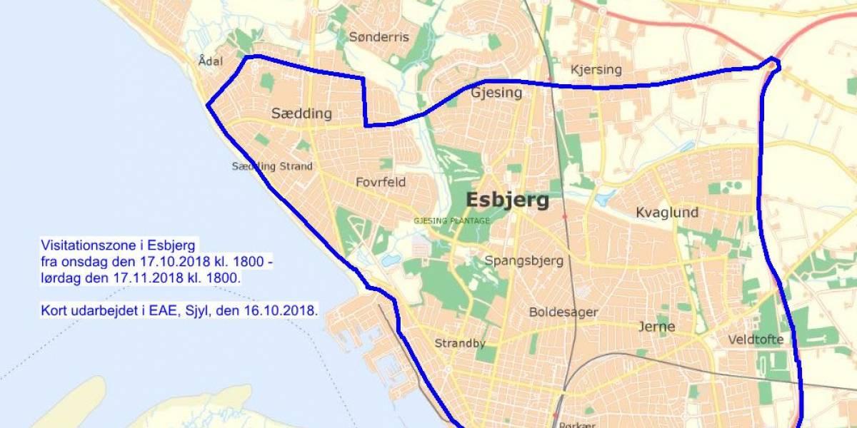 Politiet Forlaenger Visitationszonen I Esbjerg